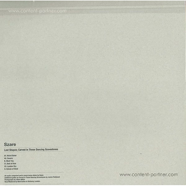 Szare - Lost Shapes (Back)