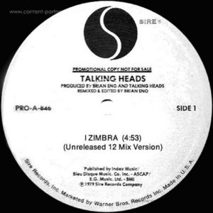 TALKING HEADS - I Zimba / Burning Down (repress)