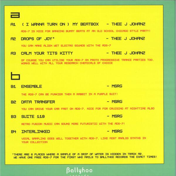 THEE J JOHANZ / MSRG - ADS-7 (Back)