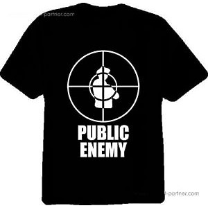 T-Shirt Black - Public Enemy (Size - M)