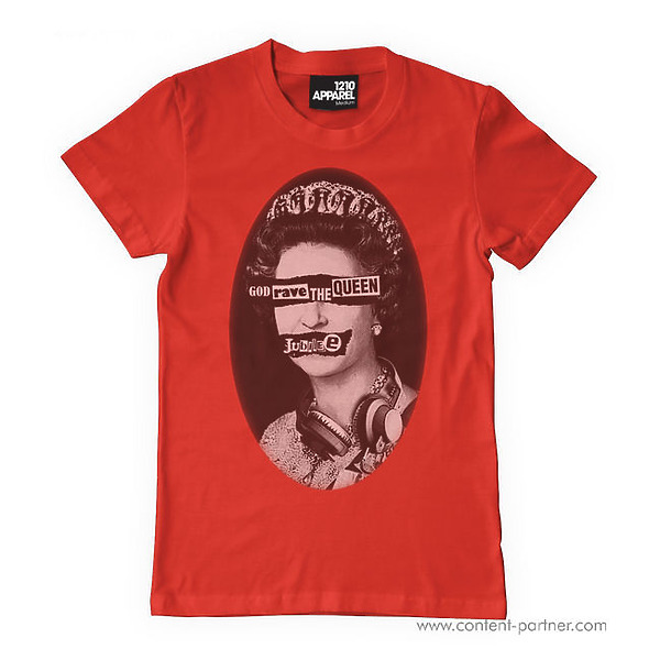 T-Shirt Red - God Rave The Queen Jubilee size M