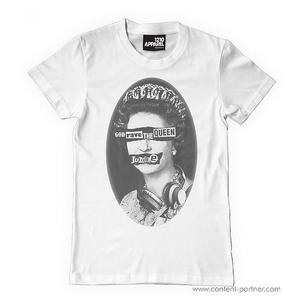 T-Shirt White - God Rave The Queen Jubilee size XXL