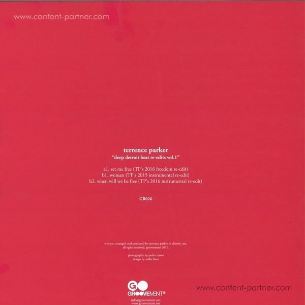 Terrence Parker - Deep Detroit Heat Re-edits Vol.1 (Back)