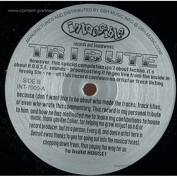 Terrence Parker - Tribute Ep (Back)