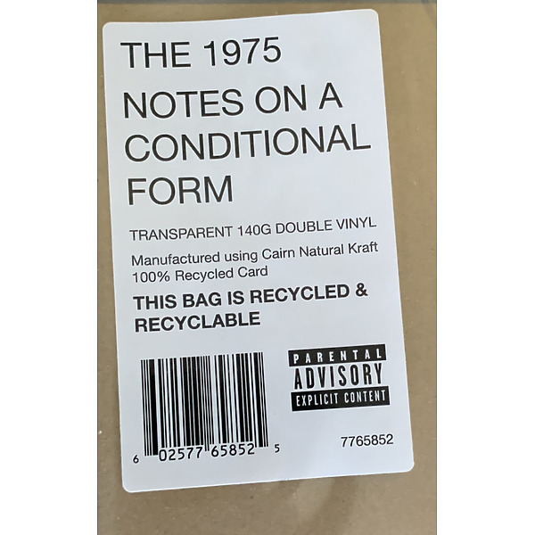 The 1975 - Notes On A Conditional Form (Clear 2LP) (Back)