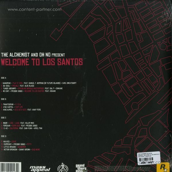The Alchemist & Oh No - Present: Welcome to Los Santos (Back)
