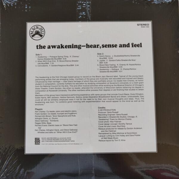 The Awakening - Hear, Sense and Feel (Remastered Reissue) (Back)