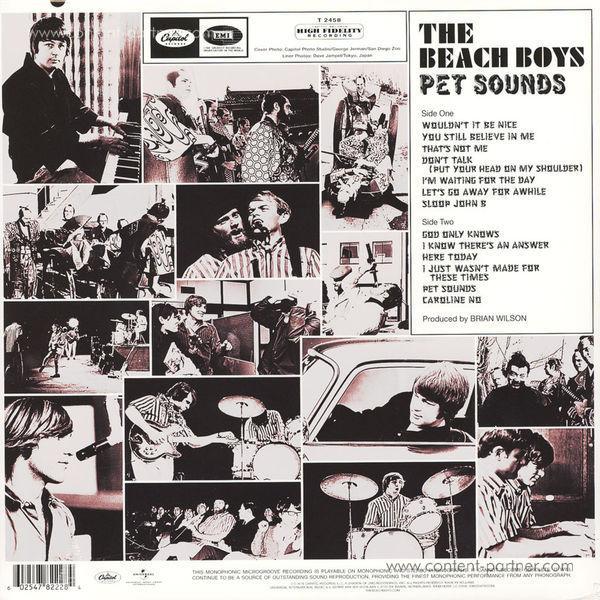 The Beach Boys - Pet Sounds (Mono 180g Vinyl Reissue) (Back)