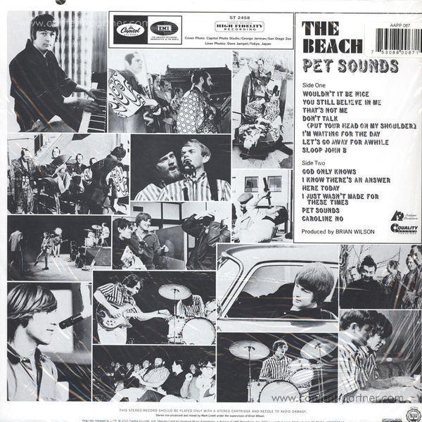 The Beach Boys - Pet Sounds (Stereo 180g Vinyl Reissue) (Back)