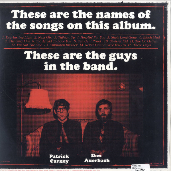 The Black Keys - Brothers (2LP, Reissue) (Back)