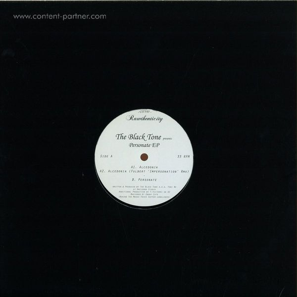The Black Tone - Personate EP (Back)