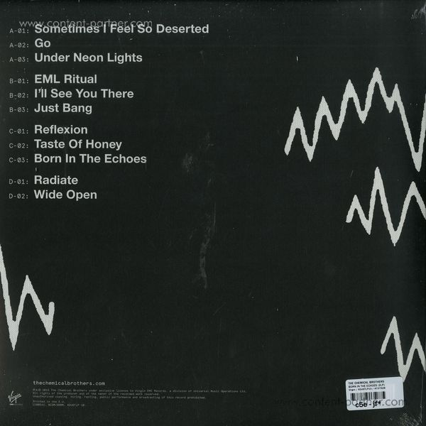 The Chemical Brothers - Born in the Echoes (2LP) (Back)