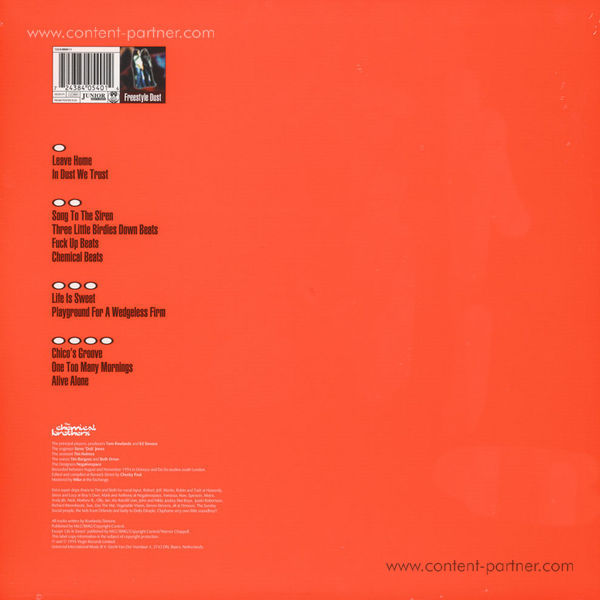 The Chemical Brothers - Exit Planet Dust (2LP) (Back)
