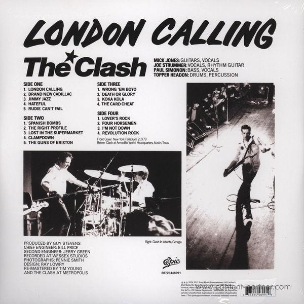 The Clash - London Calling (2LP 180g) (Back)