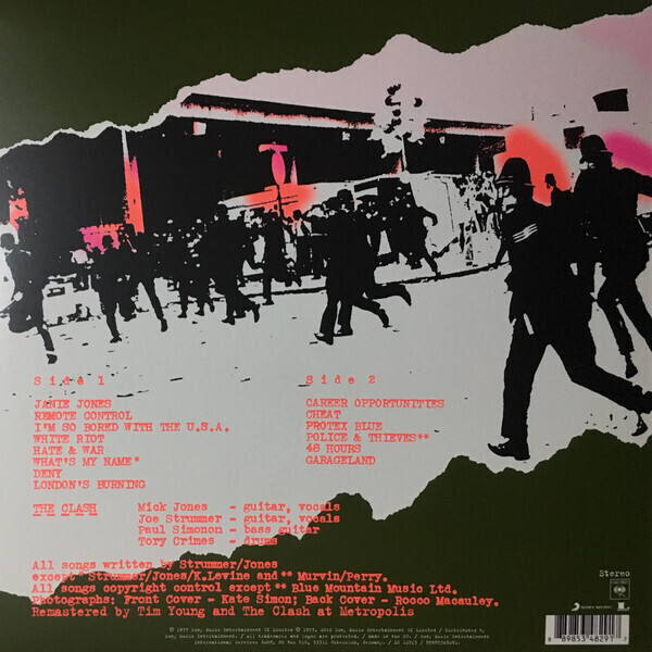 The Clash - The Clash (Reissue) (Back)