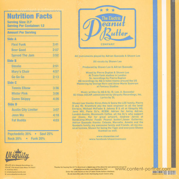 The Electric Peanut Butter Company - Trans-Atlantic Psych Classics Vol.1 (Back)