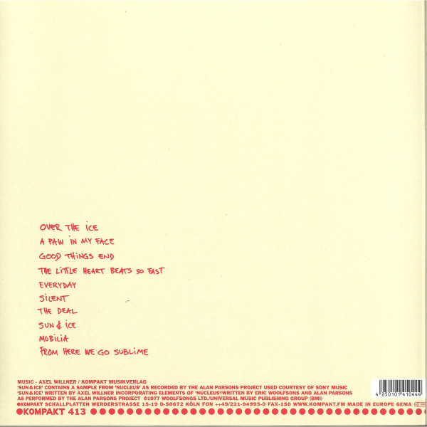 The Field - From Here We Go Sublime (Back)