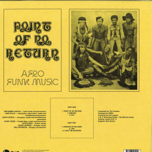 The Funkees - Point Of No Return (Reissue, Nigerian Cover) (Back)