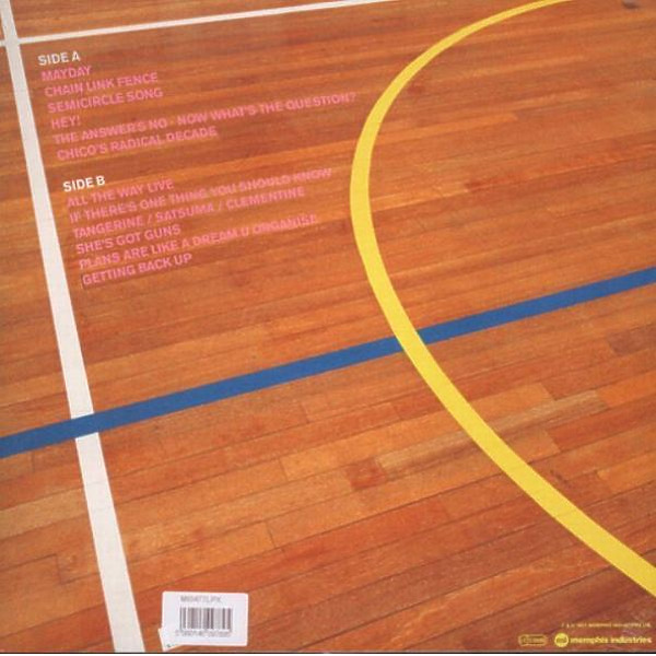 The Go! Team - Semicircle (Ltd. Neon Pink Vinyl) (Back)
