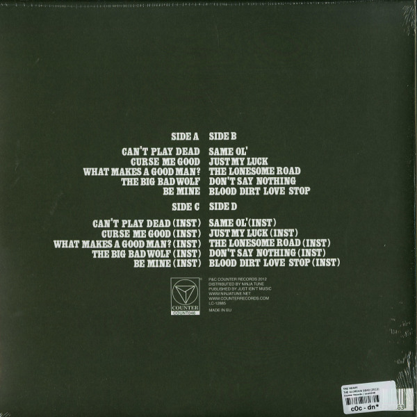 The Heavy - The Glorious Dead (LP+MP3) (Back)