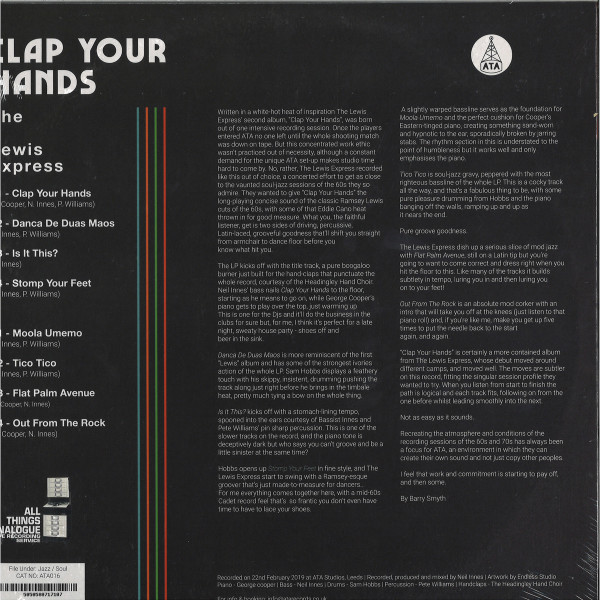The Lewis Express - Clap Your Hands (LP) (Back)
