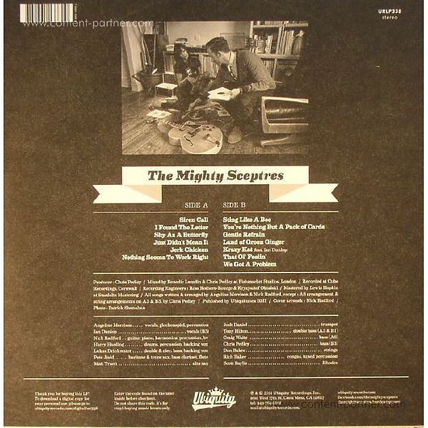 The Mighty Sceptres - All Hail The Mighty Sceptres (Back)