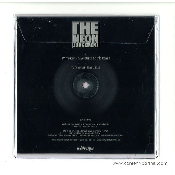 The Neon Judgement - Tv Treated (Dave Clarke Rmx, Square Picture Disc) (Back)