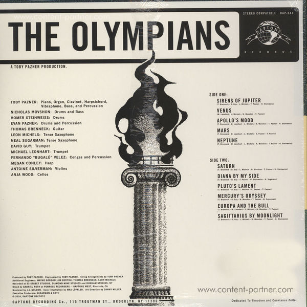 The Olympians - The Olympians (LP+MP3) (Back)