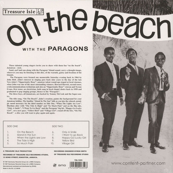 The Paragons - On The Beach (180g) (Back)