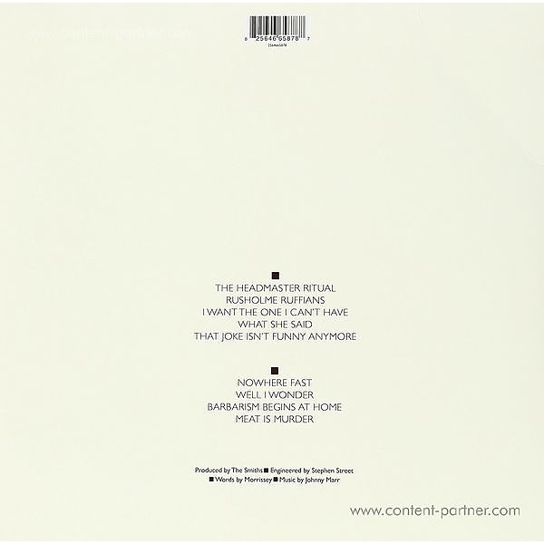 The Smiths - Meat is Murder (Back)