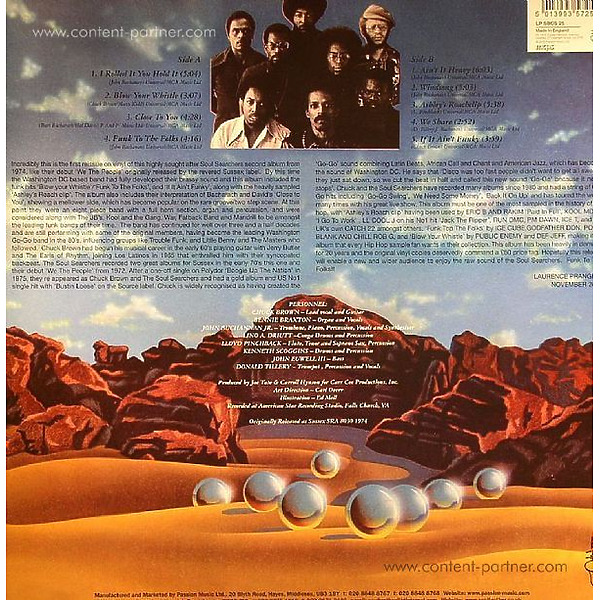 The Soul Searchers - Salt Of The Earth (LP, Ltd. Re-Release) (Back)