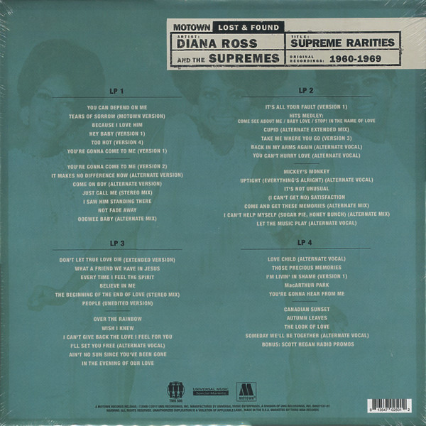 The Supremes - Supreme Rarities: Motown Lost & Found (Box) (Back)