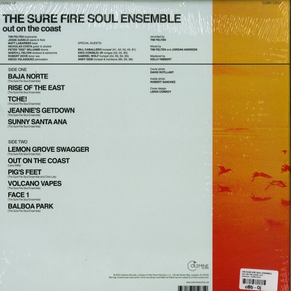 The Sure Fire Soul Ensemble - Out on the Coast (LP) (Back)