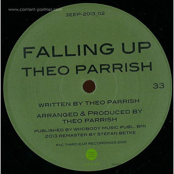Theo Parrish - Falling Up 2013 Remastered (Back)