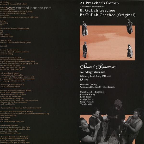 Theo Parrish - Preacher's Coming / Gullah Geechee (Back)