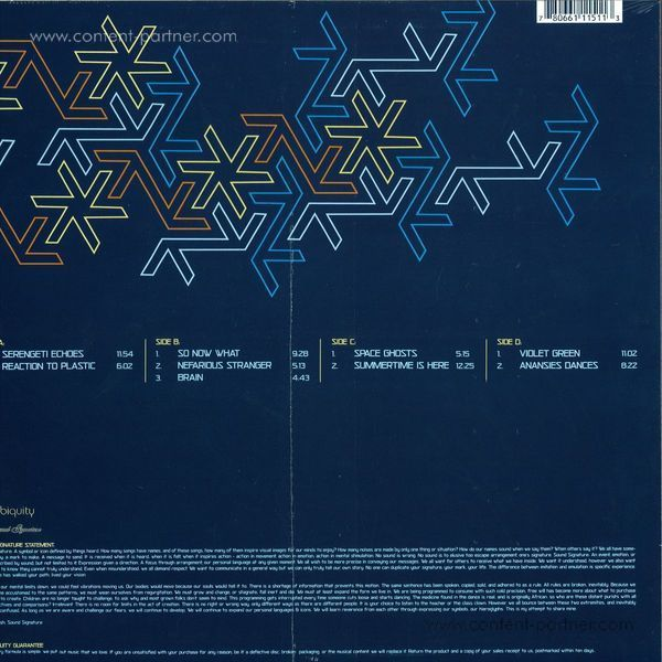 Theo Parrish - parallel dimensions (Back)