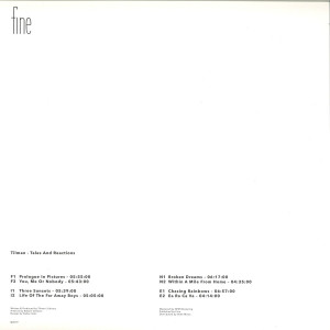 Tilman - Tales And Reactions (Back)