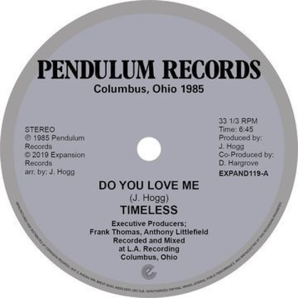 Timeless Legend - Do You Love Me / You're the One (12