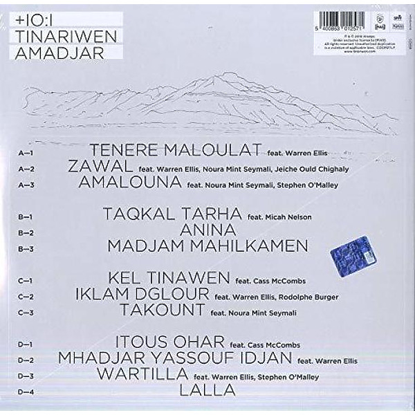 Tinariwen - Amadjar (Ltd. Edition 2LP+MP3) (Back)