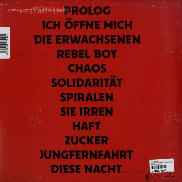 Tocotronic - Tocotronic (Das rote Album) (Back)