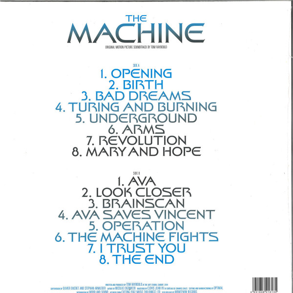 Tom Raybould - The Machine (OST) (LP, Glow in the Dark Sleeve) (Back)