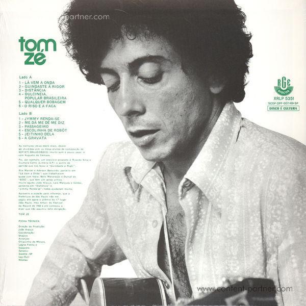 Tom Zé - Tom Zé (Reissue) (Back)