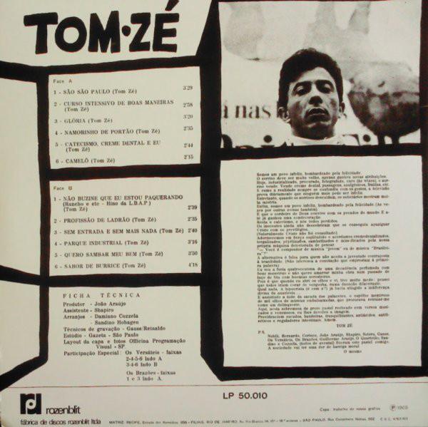 Tom Ze - Grande Liquidacao (Reissue) (Back)