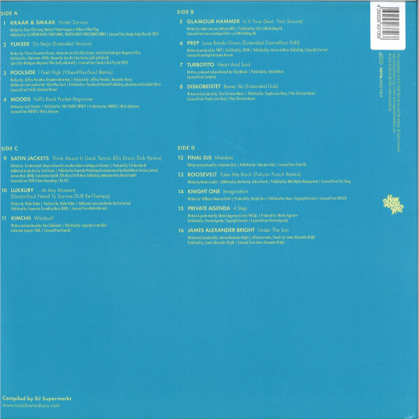 Too Slow To Disco Neo pres. Various Artists - The Sunset Manifesto (2LP) (Back)