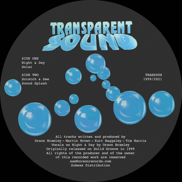 Transparent Sound - Night & Day (1999 Reissue) (Back)