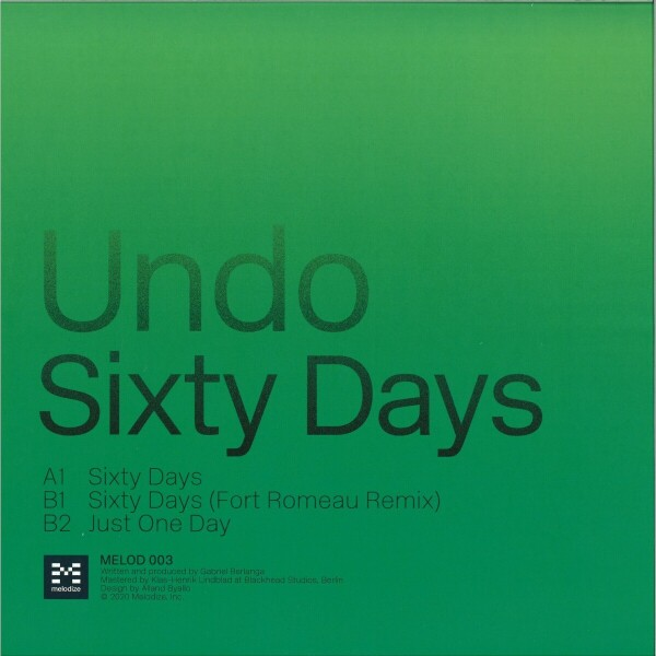 Undo - Sixty Days (incl. Fort Romeau Remix) (Back)