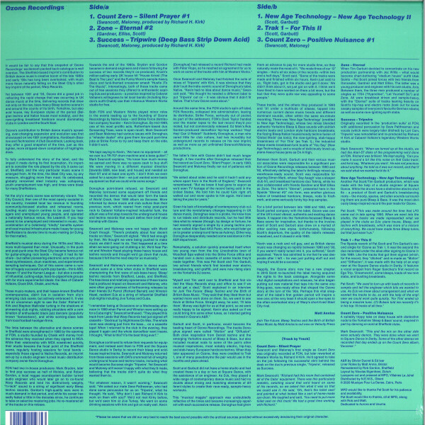 VARIOUS ARTISTS - OZONE (Back)