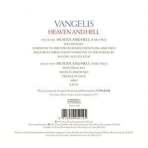 Vangelis - Heaven And Hell (Remastered Edition) (Back)