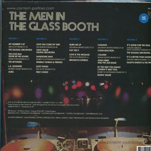Various - Part B - The Men In The Glass Booth - Disco Eras Most Influ (Back)