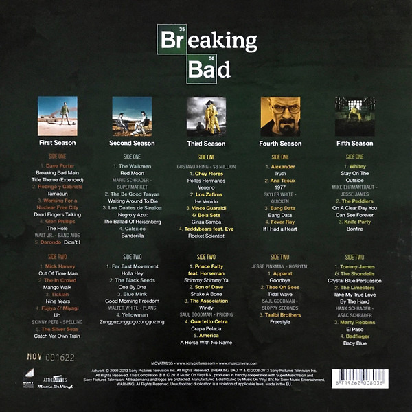 "Various Artists / OST - Breaking Bad (5x10"" Box Set) (Back)"